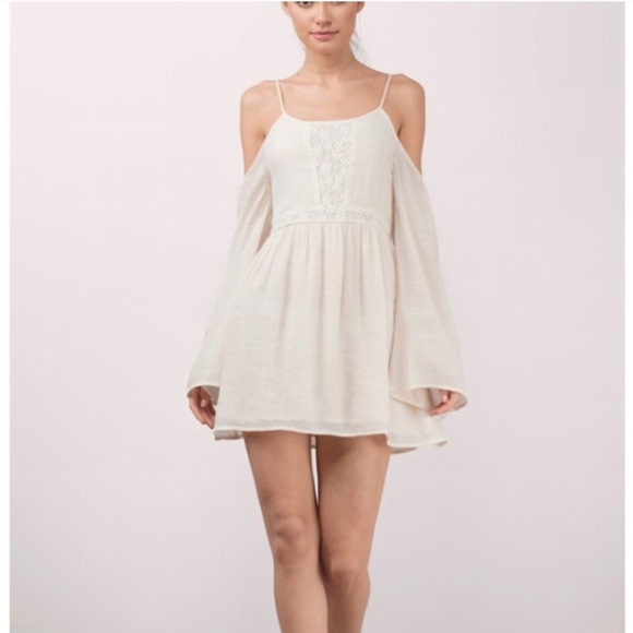 99ffc2cdf72 Tobi Cream Marseille Skater Dress